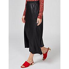 Kim & Co Croco Pleather Curved Hem Skirt