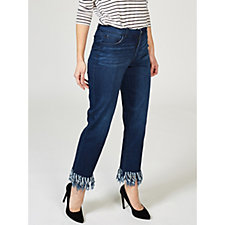 Women with Control Fringe Hem Jeans