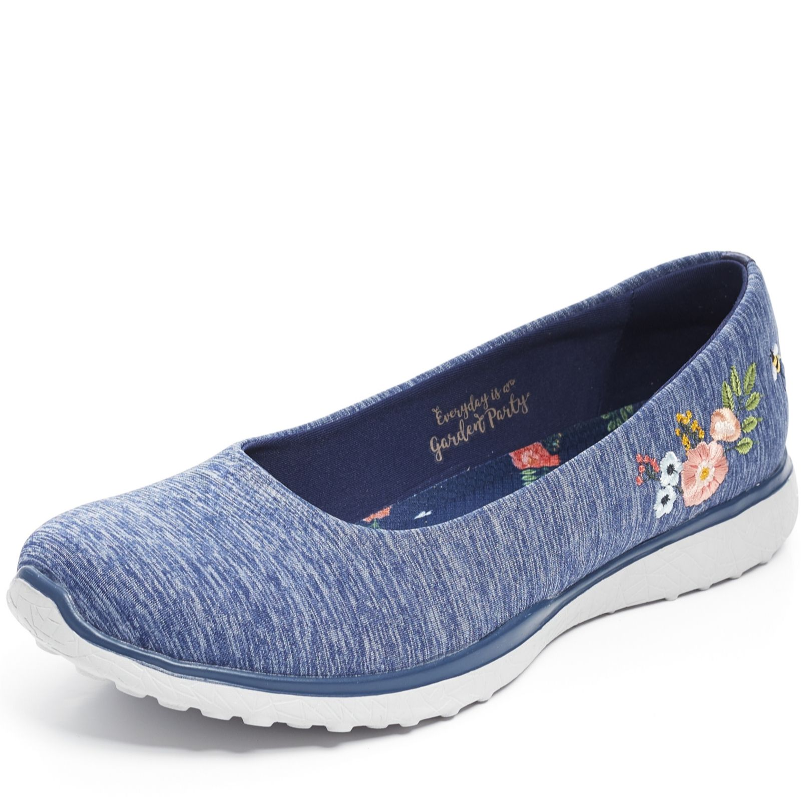 united kingdom new photos newest Skechers Microburst Garden Party Heathered Jersey Skimmer Trainer ...