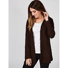Kim & Co Eyelash Jersey Long Sleeve Cardigan