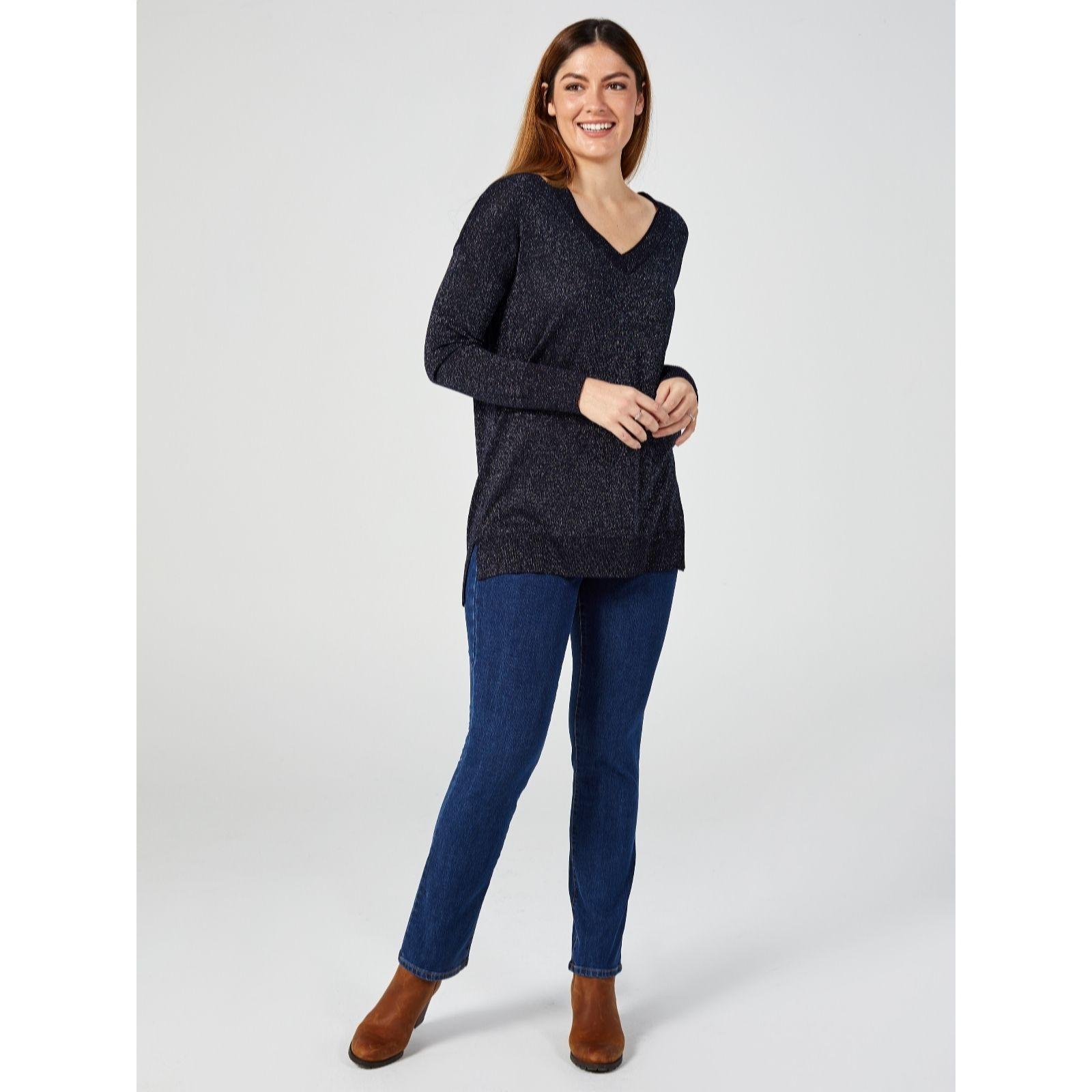 af4cc5e588 Ruth Langsford New Fit Straight Leg Jeans Petite - QVC UK