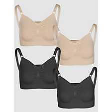 Vercella Vita Medium Control 2 Butterfly Design and 2 Plain Bras Pack of 4