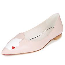 6098694158c Lulu Guinness Kissing Cameo Simone Flat Court Shoes