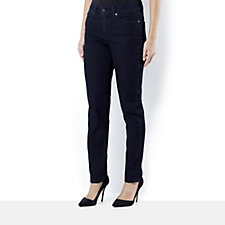 Women with Control My Wonder Denim Fly Front Slim Leg Petite Jeans