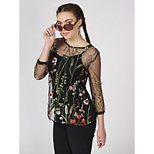 Joe Browns Seriously Spirited Embroidered Chiffon Top
