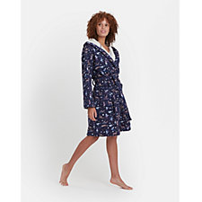 Joules Idlewhile Fleece Inner Jersey Dressing Gown