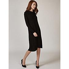 Long Sleeve Cowl Neck Knit Dress with Side Seam Pockets by Nina Leonard