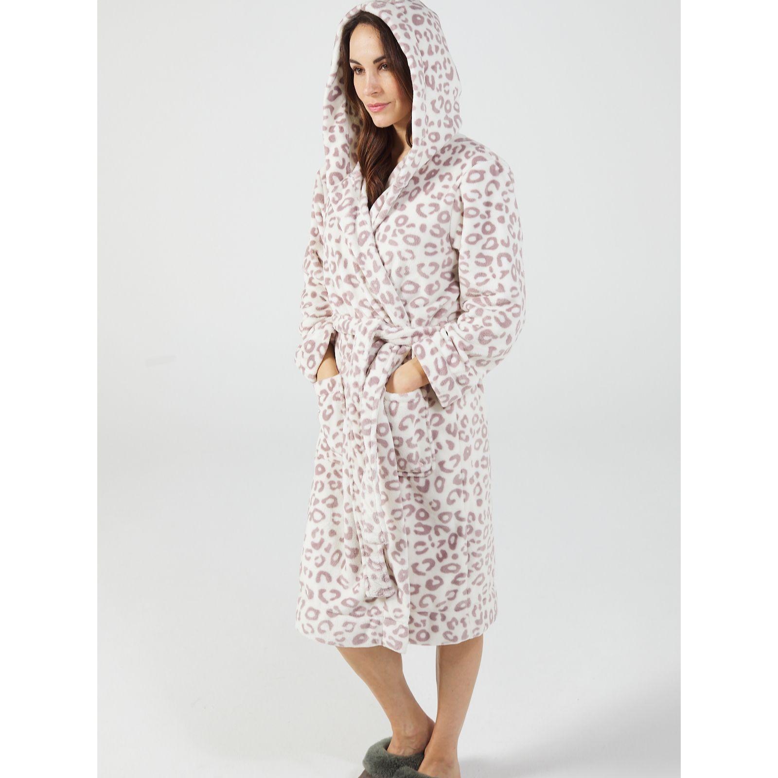 d36e31ad6e9 Joules Rita Hooded Fleece Dressing Gown - QVC UK