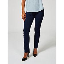 Kim & Co Ponte Crepe Jersey Narrow Leg Wide Waistband Regular Trouser
