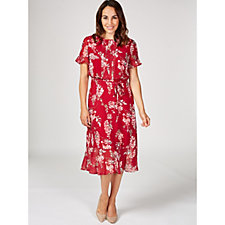 Phase Eight Helia Floral Dress with Pleat Detail