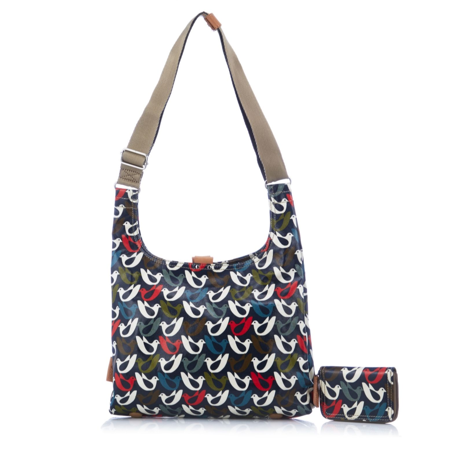 orla kiely midi sling bag with zip purse page 1 qvc uk. Black Bedroom Furniture Sets. Home Design Ideas
