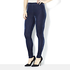 H by Halston Ankle Length Velvet Leggings