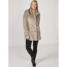 Rino & Pelle Ripple Effect Faux Fur Coat