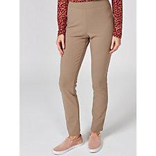 Kim & Co Ponte Crepe Jersey Narrow Leg Wide Waistband Petite Trouser