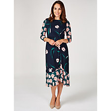 Phase Eight Leto Floral Mixed Print Dress