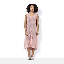 C. Wonder Embroidered Mesh Duster Dress
