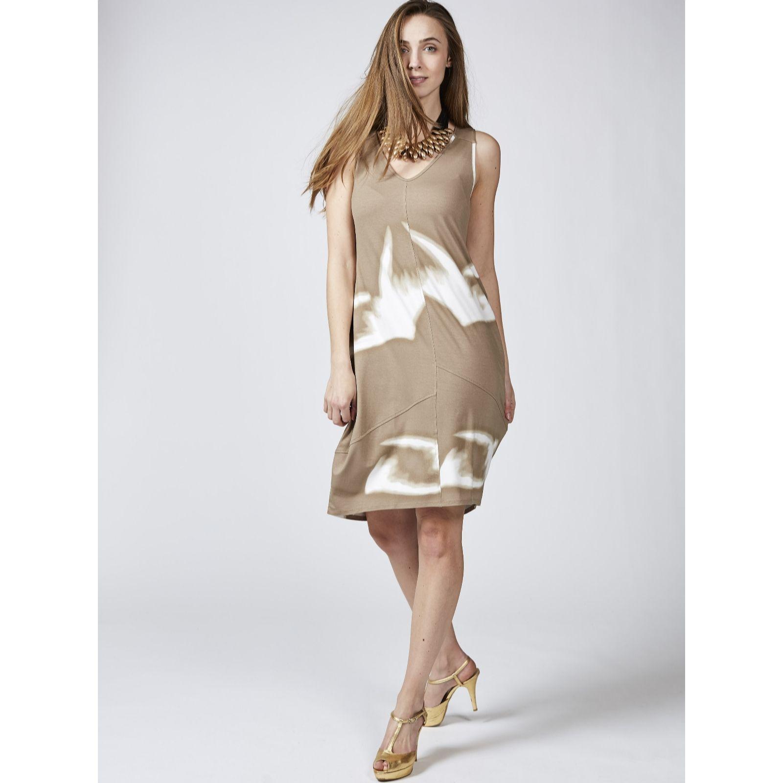 Molton Brown Bath And Shower Marlawynne Printed Jersey Sleeveless Dress Qvc Uk