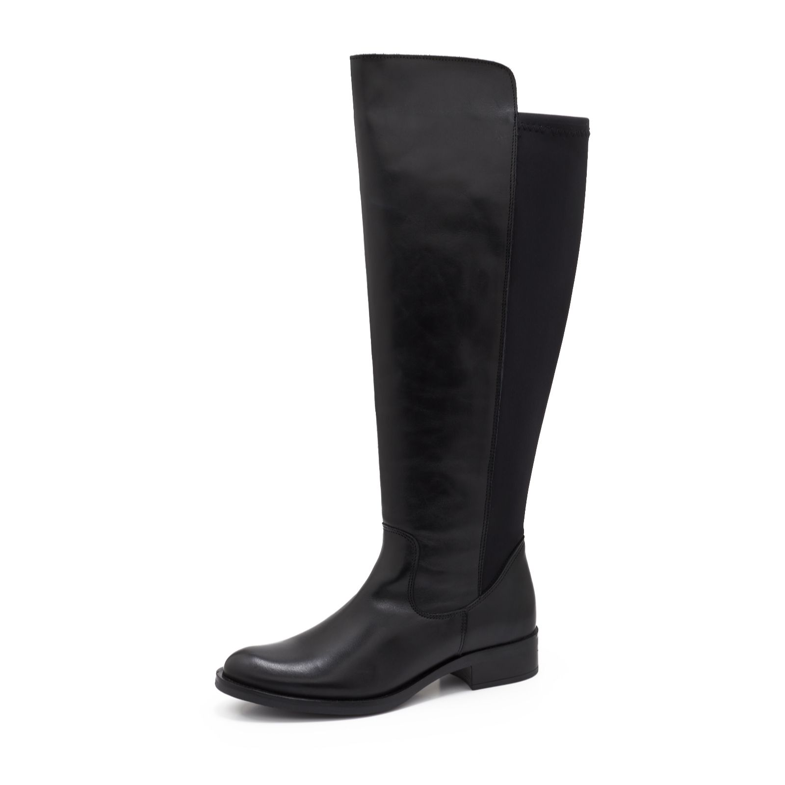 e0a4b7571657 Clarks Melissa Leather Knee High Boot with Elasticated Back Panel ...