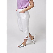 Quacker Factory Pearls & Shine Cropped Trousers