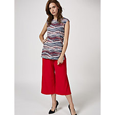 Mr Max Textured Wave Stripe Sleeveless Top