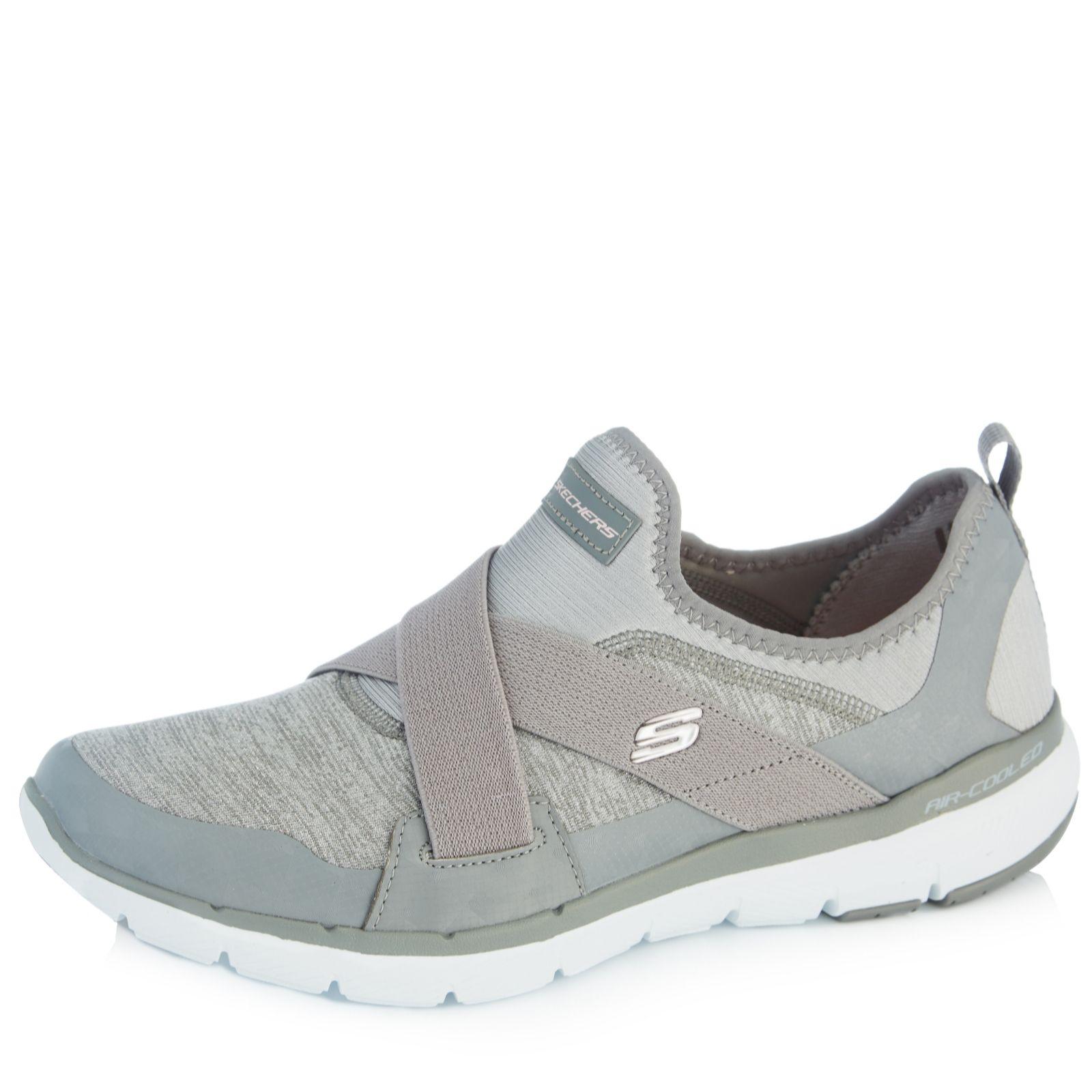 f72220ee481 Skechers Flex Appeal 3.0 Slip On Trainer - QVC UK