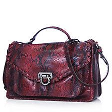 Aimee Kestenberg East Side Large Leather Convertible Satchel Bag