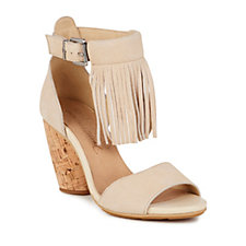 Emu Nutbush Suede Fringe Heeled Wedge Sandal