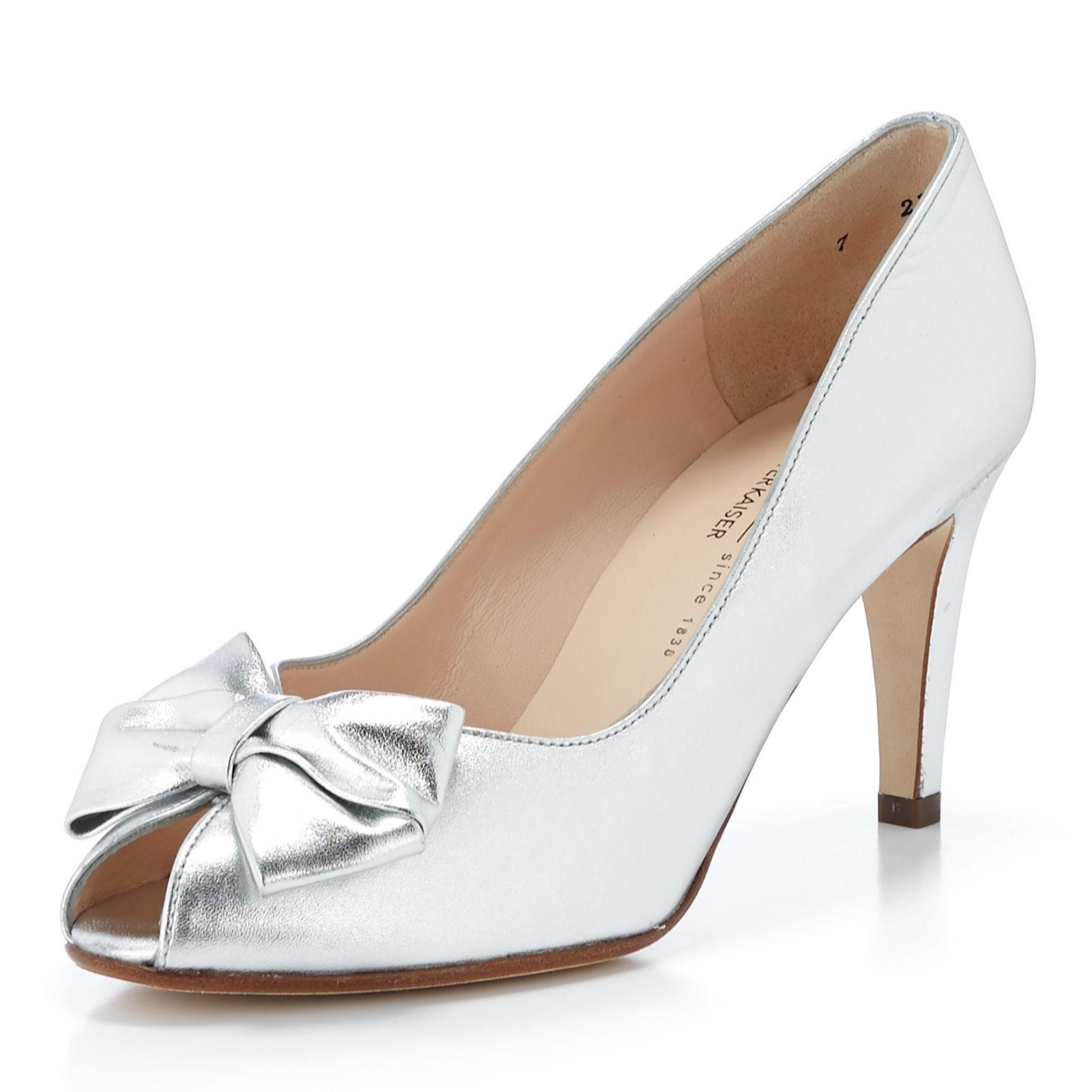 size 40 b0bca 21e7b Peter Kaiser Stila Bow Peep Court Shoe - QVC UK