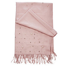 Frank Usher Scattered Simulated Pearl Pashmina Look Scarf