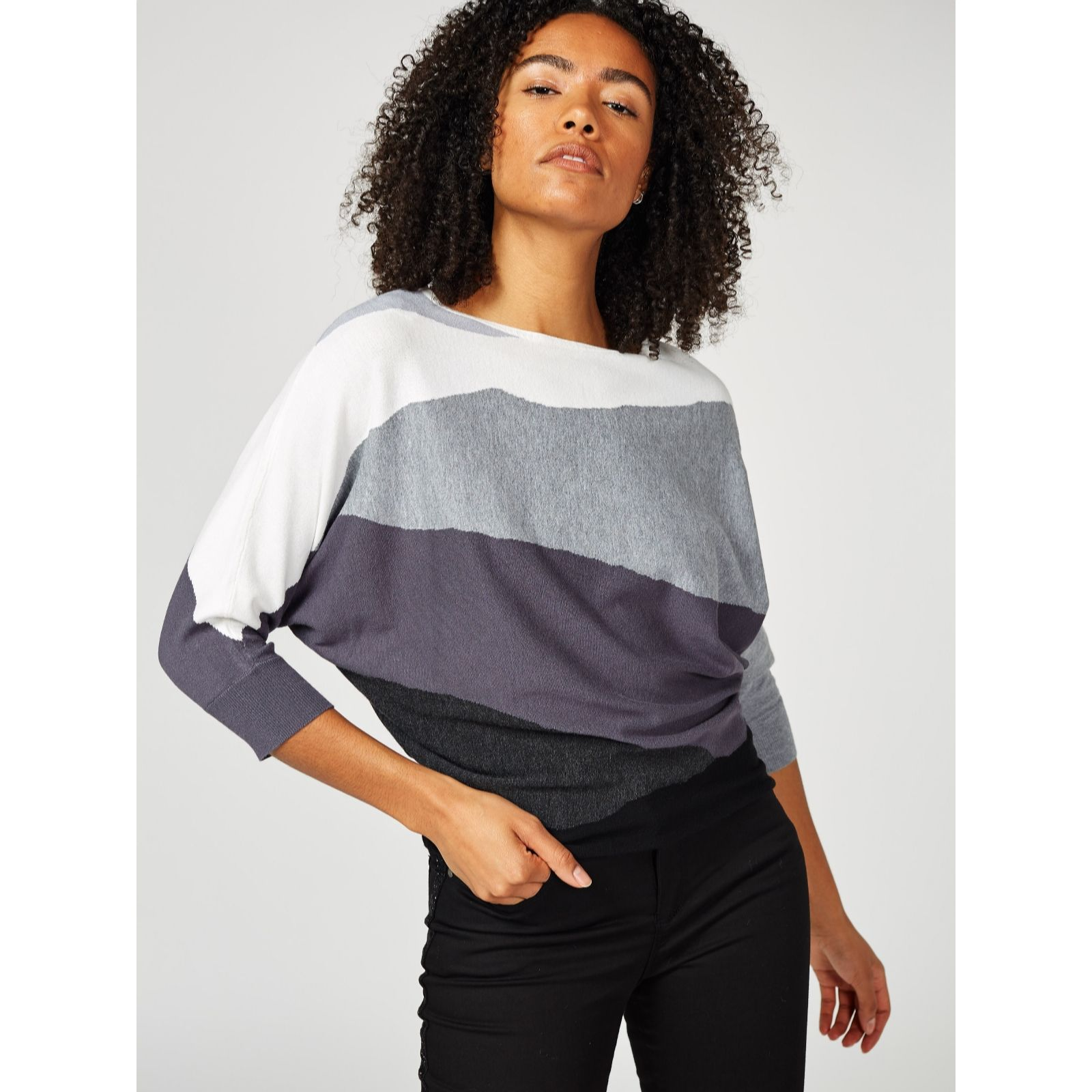 17e05f91f59 Phase Eight Lorrie Intarsia Knitted Jumper - QVC UK
