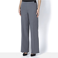 H by Halston Petite Full Length Wide Leg Trousers