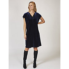 Ronen Chen Tracy Soft Velvet Shift Dress