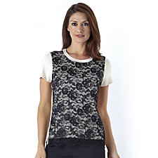 Outlet WithSleeves By Lesley Ebbetts Floral Lace Cap Sleeve