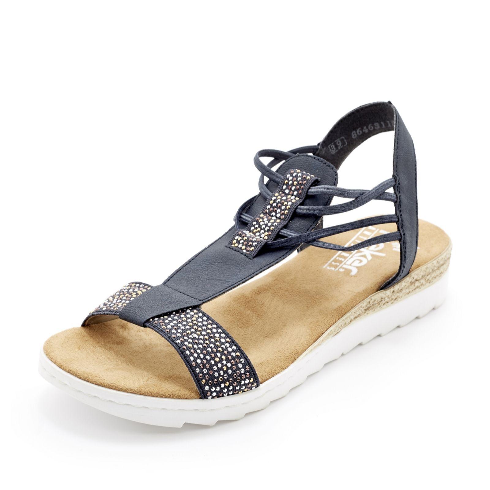Rieker Embellished Flat Slip On Sandal - QVC UK 724d37449294