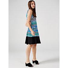 Ronni Nicole Sleeveless Round Neck Swing Dress