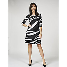 Attitudes by Renee 3/4 Sleeve V Neck Dress