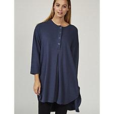 Join Clothes Button Placket Longline Shirt