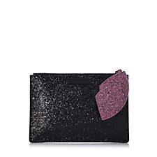 Lulu Guinness Glitter Cut Out Lip Pouch