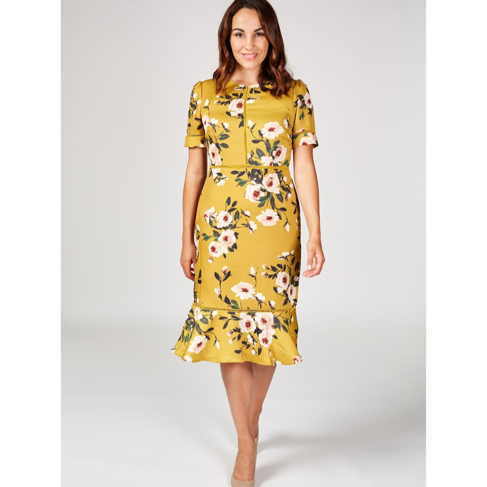 Phase Eight Hilary Floral Dress Qvc Uk