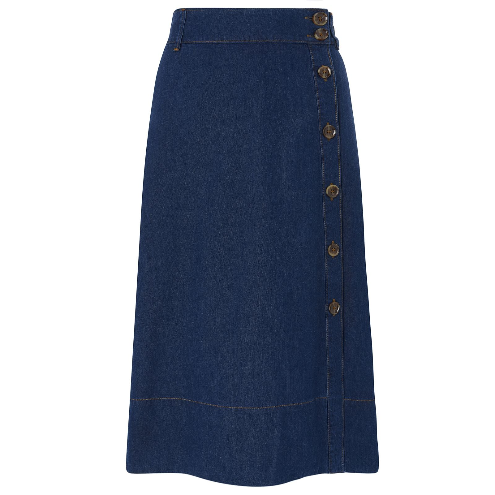 Monsoon Maya Denim Midi Skirt - QVC UK
