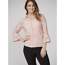 Together Lace Shirt with Camisole