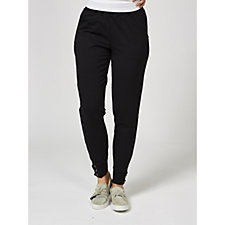 Denim & Co. Jogger Pants with Lace Up Grommet Cuff Detail