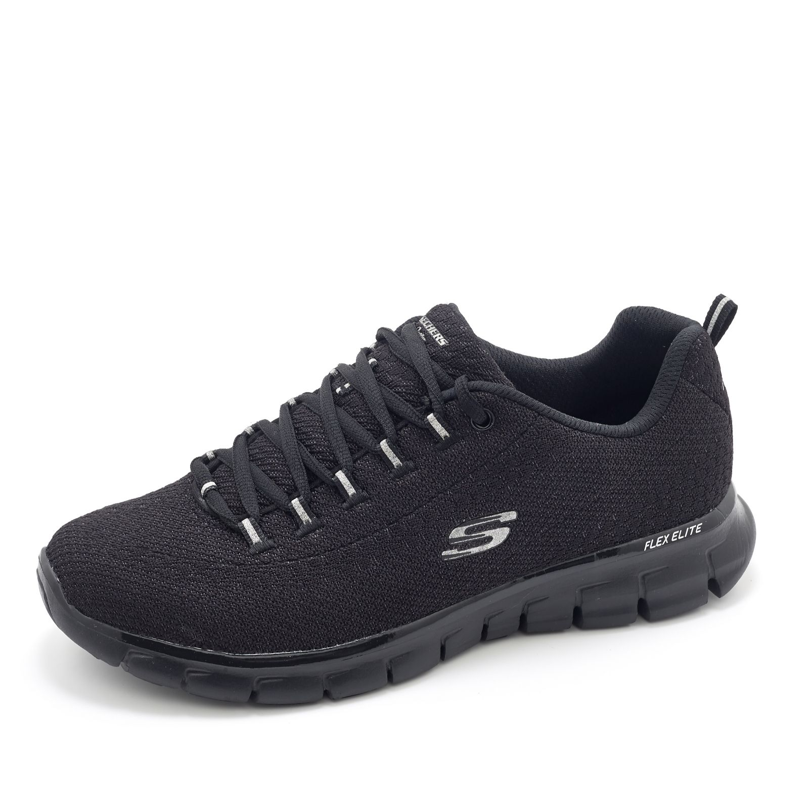5832a8eebac0 Skechers Synergy Safe and Sound Soft Knit Lace Up Trainer w  Memory Foam -  QVC UK