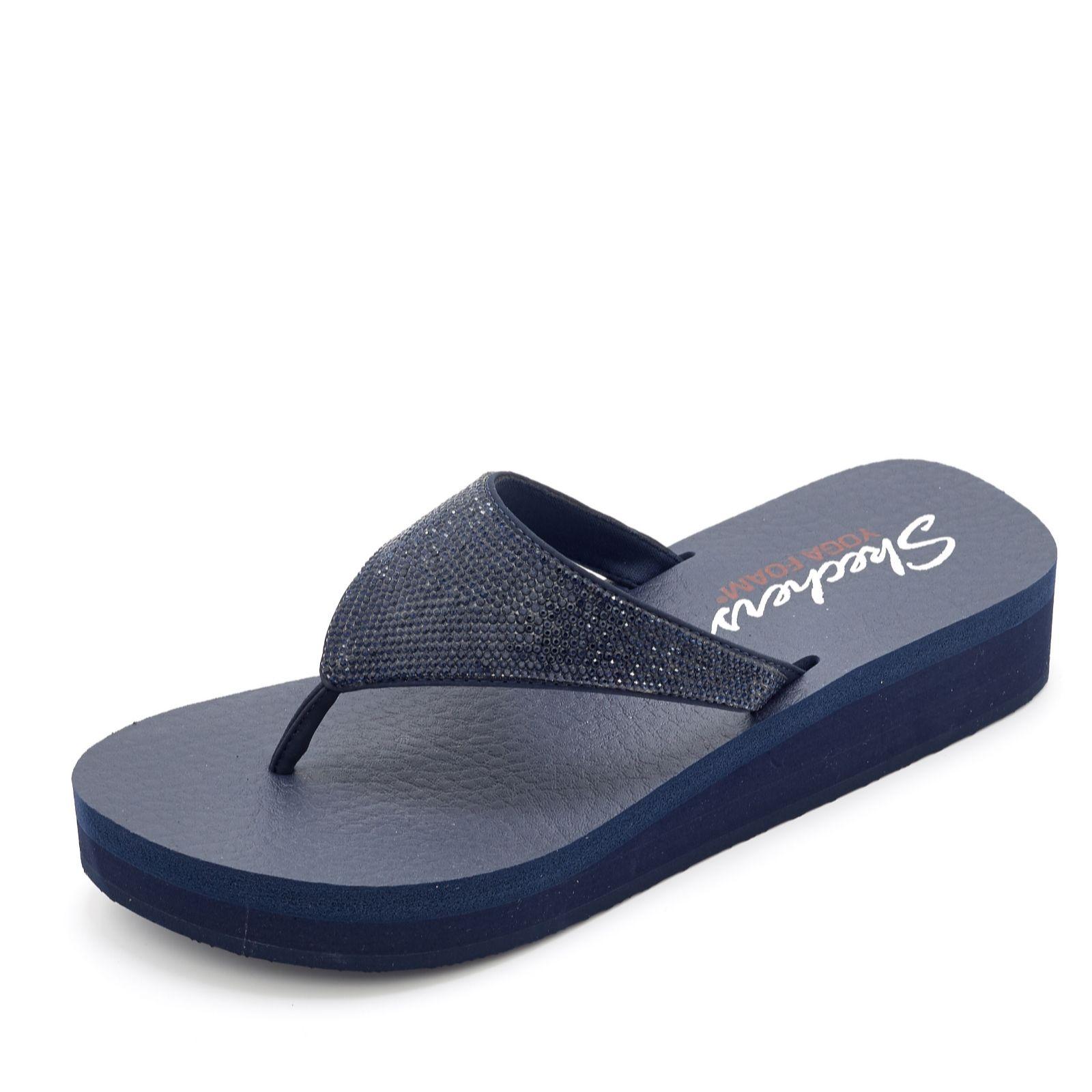 29985c3c27cf Skechers Vinyasa Nam On Rhinestone Flip Flop with Yoga Foam ...