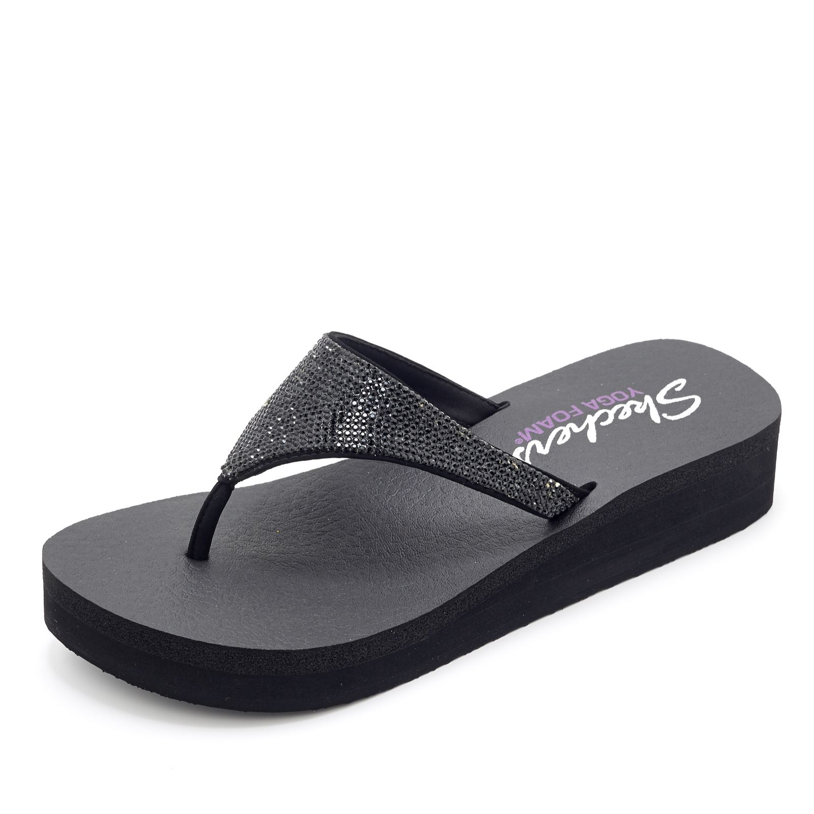 0b58b85fccc7 Skechers Vinyasa Nam On Rhinestone Flip Flop with Yoga Foam ...