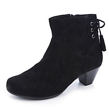 Vitaform Suede Leather Ankle Boot with Tassel Detail
