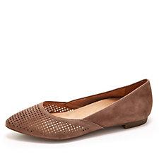 Vionic Orthotic Gem Posey Flat Suede Slip On Shoe w/ FMT Technology
