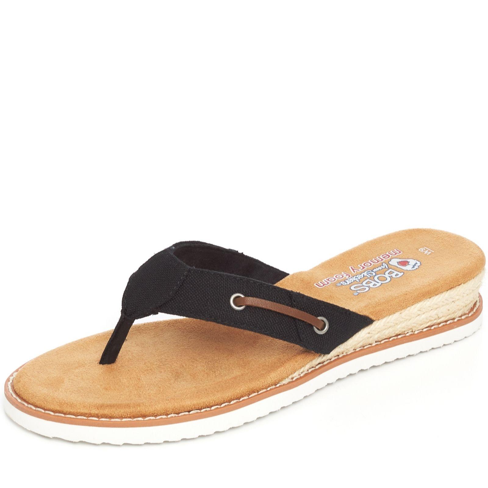 7bf584d417a8ae Skechers Desert Kiss Linen Thong Sandal w Memory Foam - QVC UK