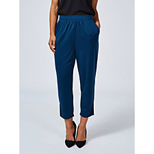 H by Halston Brushed Modal Side Slit Cropped Trousers Regular