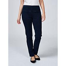 Women With Control Tummy Control Prime Stretch Slim Denim Tall Trouser